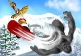 juego de pinguinos y nieve