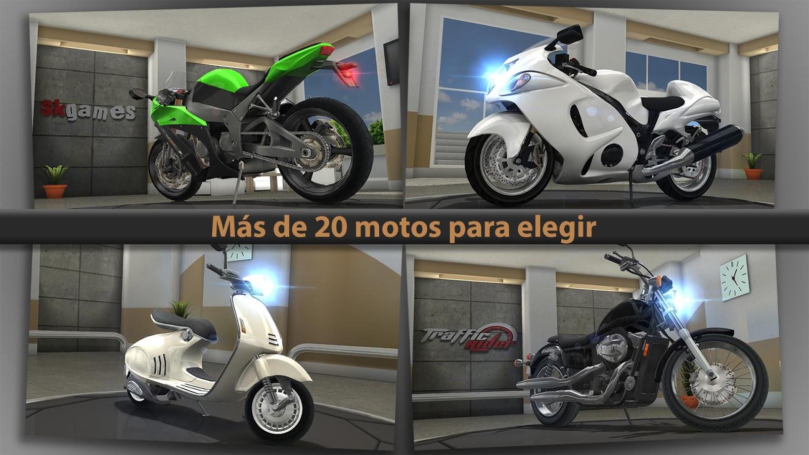 hasta 20 motos para elegir