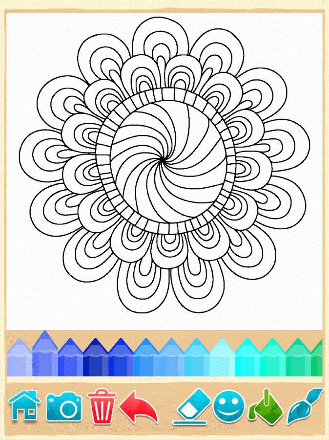 Páginas para colorear Mandala 1